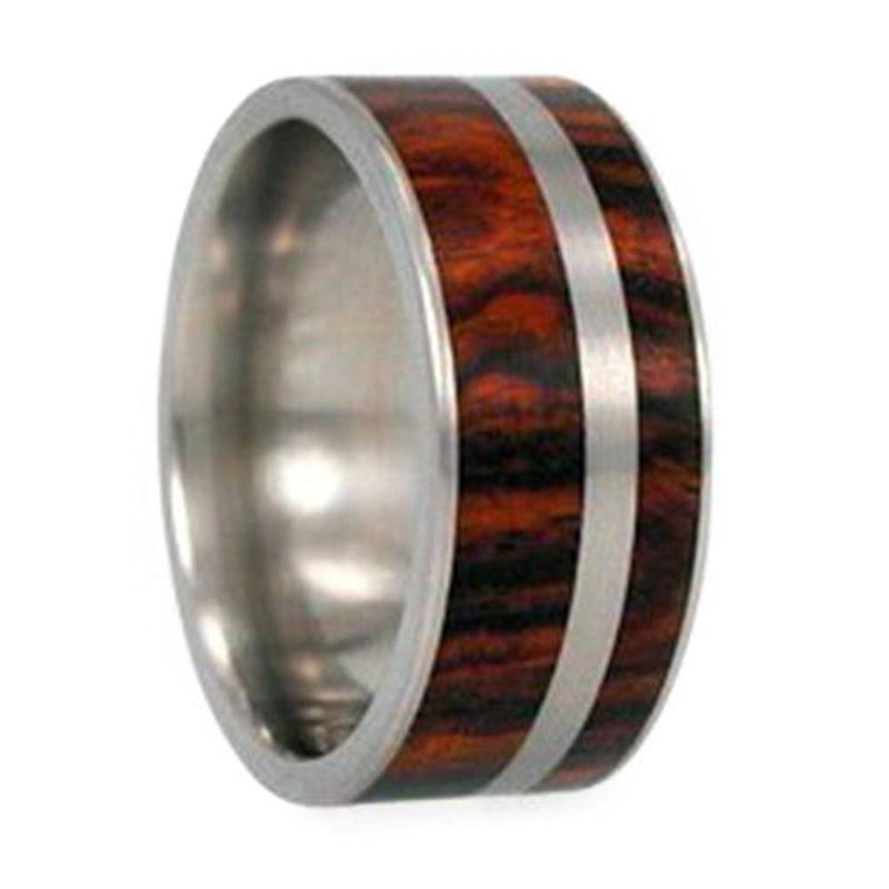 Ironwood, Titanium Pinstripe 8mm Comfort Fit Titanium Band, Size 4.5
