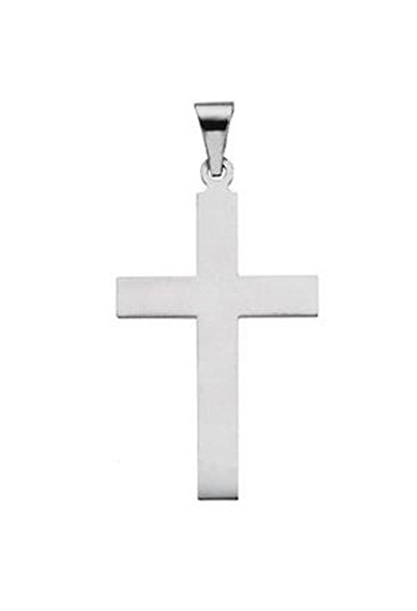 Western Cross Sterling Silver Pendant (31X18MM)
