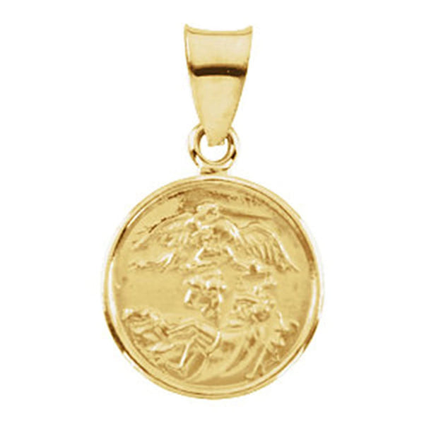 18k Yellow Gold St. Michael Medal (13 MM)
