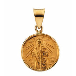18k Yellow Gold St. Jude Medal (13 MM)