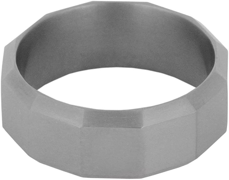 Rugged Design 8mm Comfort-Fit Matte Titanium Wedding Band