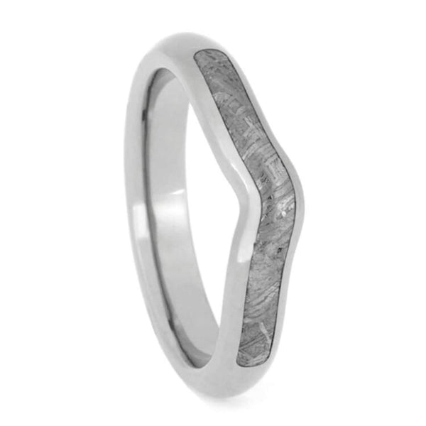 Gibeon Meteorite 3.5mm Brushed Titanium Comfort-Fit Engagement Band