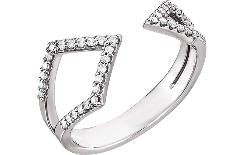 Platinum Diamond Geometric Ring (1/5 Ctw, Color GH, Clarity SI2-SI3), Size 7.5