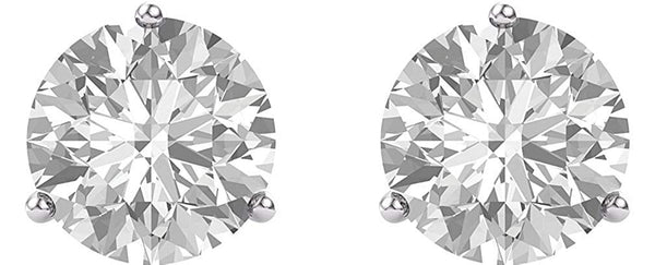 Charles & Colvard Forever One Moissanite Earrings, Rhodium-Plated 14k White Gold 5MM