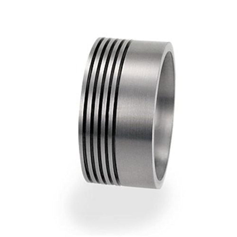 Minimalist Style Stack 1mm Comfort Fit Matte Titanium Ring