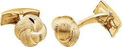 Love Knot 14k Yellow Gold Cuff Links, 12MM