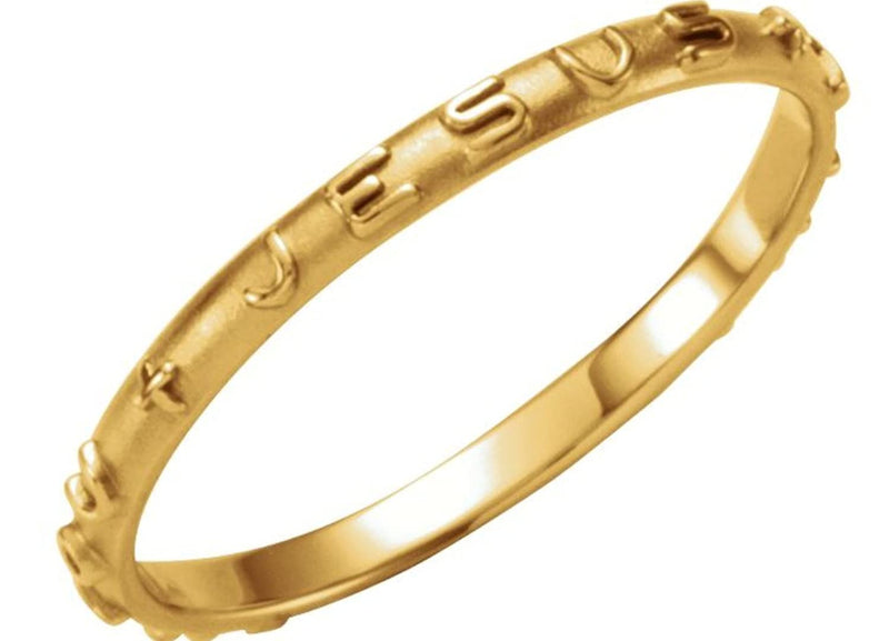 'What Would Jesus Do' 14k Yellow Gold Prayer Ring