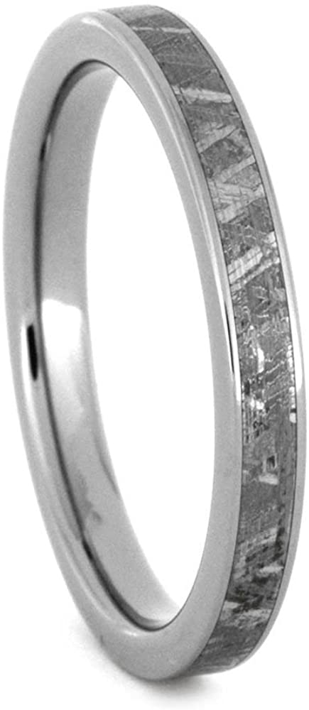 Gibeon Meteorite 3mm Comfort-Fit Titanium Band, Size 10.25