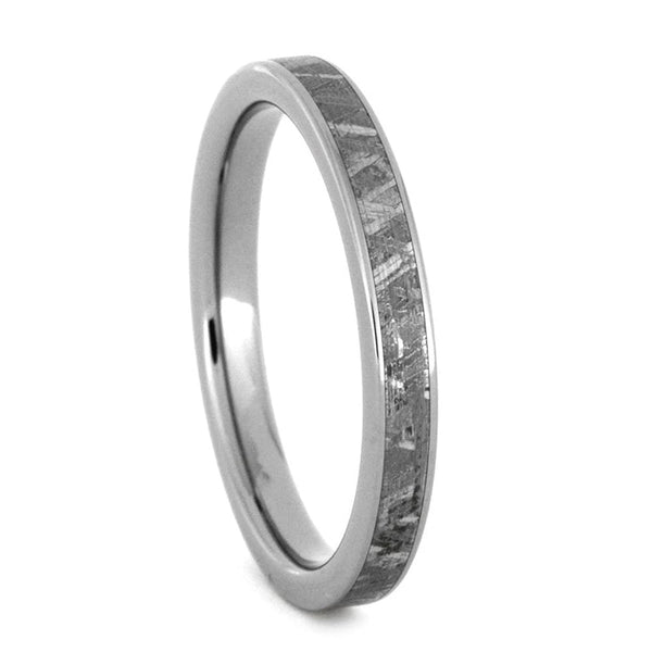 The Men's Jewelry Store (Unisex Jewelry) Gibeon Meteorite 3mm Comfort-Fit Titanium Band