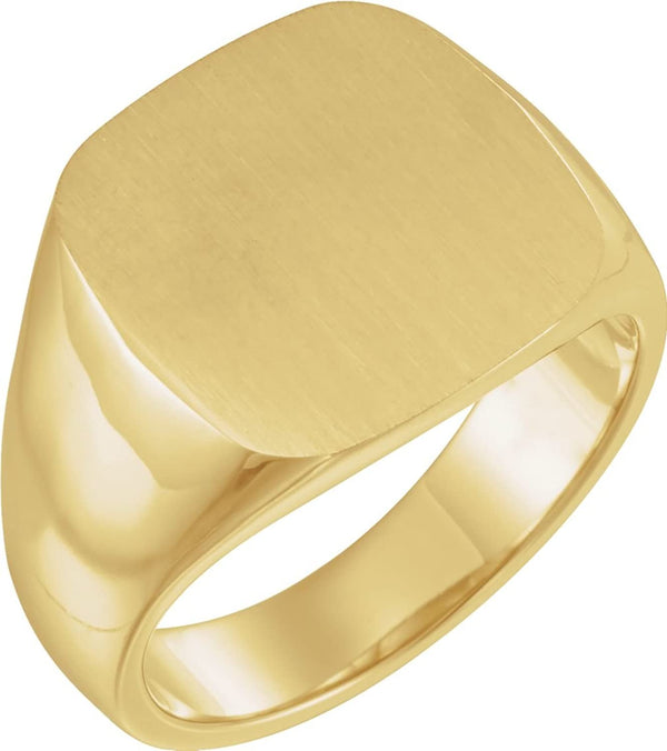Men's Closed Back Signet Ring, 10k Yellow Gold (16mm) Size 11.75