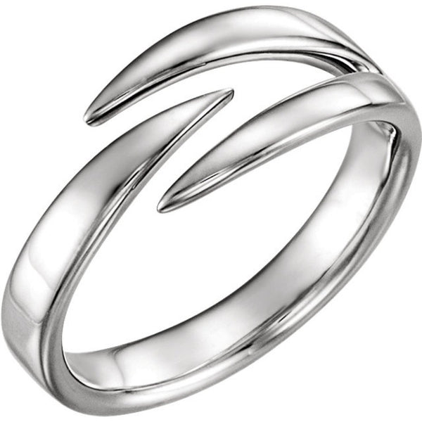 Platinum Negative Space Ring
