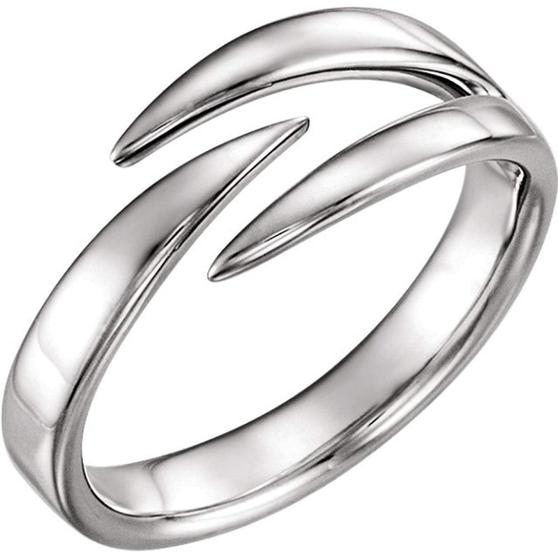 Negative Space Ring, Rhodium-Plated 14k White Gold,
