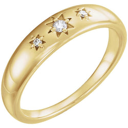 Diamond Starburst Ring, 14k Yellow Gold (.05 Ctw, G-H Color, I1 Clarity), Size 6.25
