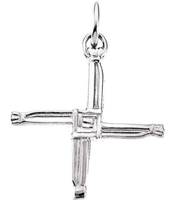 St. Bridget's Cross 14k White Gold Pendant