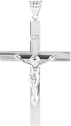 Hollow Crucifix Sterling Silver Pendant (57.7X38.5MM)