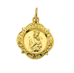 14k Yellow Gold Our Lady of Perpetual Help Medal (12.14x12.09 MM)