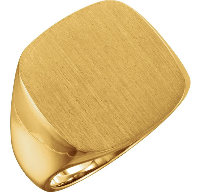 Men's Closed Back Signet Ring, 10k Yellow Gold (20mm)