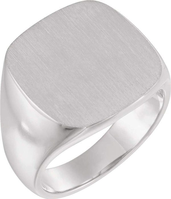 Men's Platinum Signet Ring (18mm)