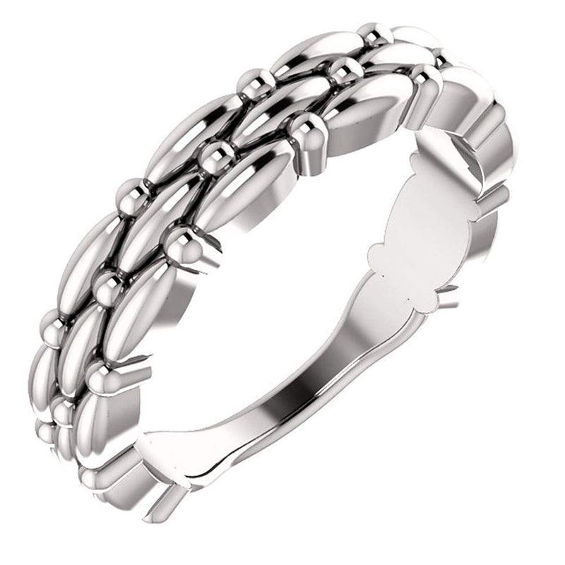 Multi-Row Stackable Ring, Sterling Silver