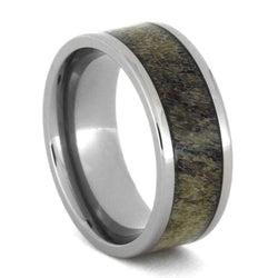 Deer Antler Inlay 8mm Comfort-Fit Titanium Band