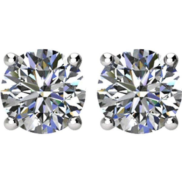 1 1/2 Ct 14k White Gold Diamond Stud Earrings (1.50 Cttw, GH Color, SI1 Clarity)