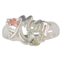 Mom' Ring, Sterling Silver, 12k Green and Rose Gold Black Hills Gold