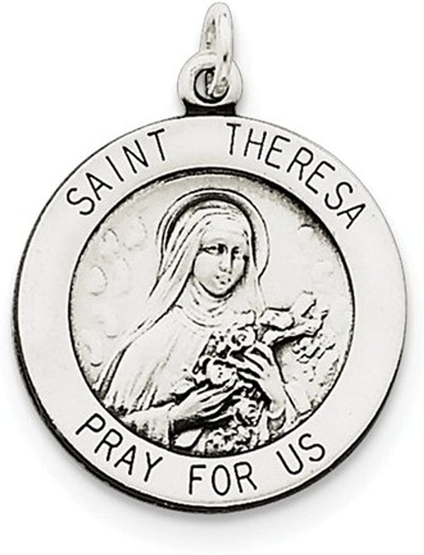 Sterling Silver St. Theresa Medal (25X20MM)