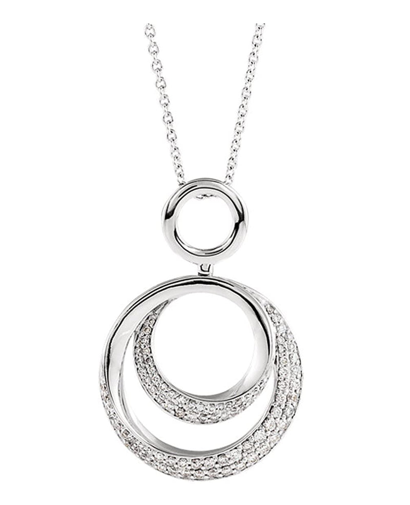 14k White Gold .59 Cttw. Diamond Necklace