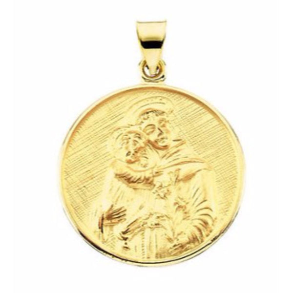 18k Yellow Gold St. Anthony of Padua Medal (13 MM)