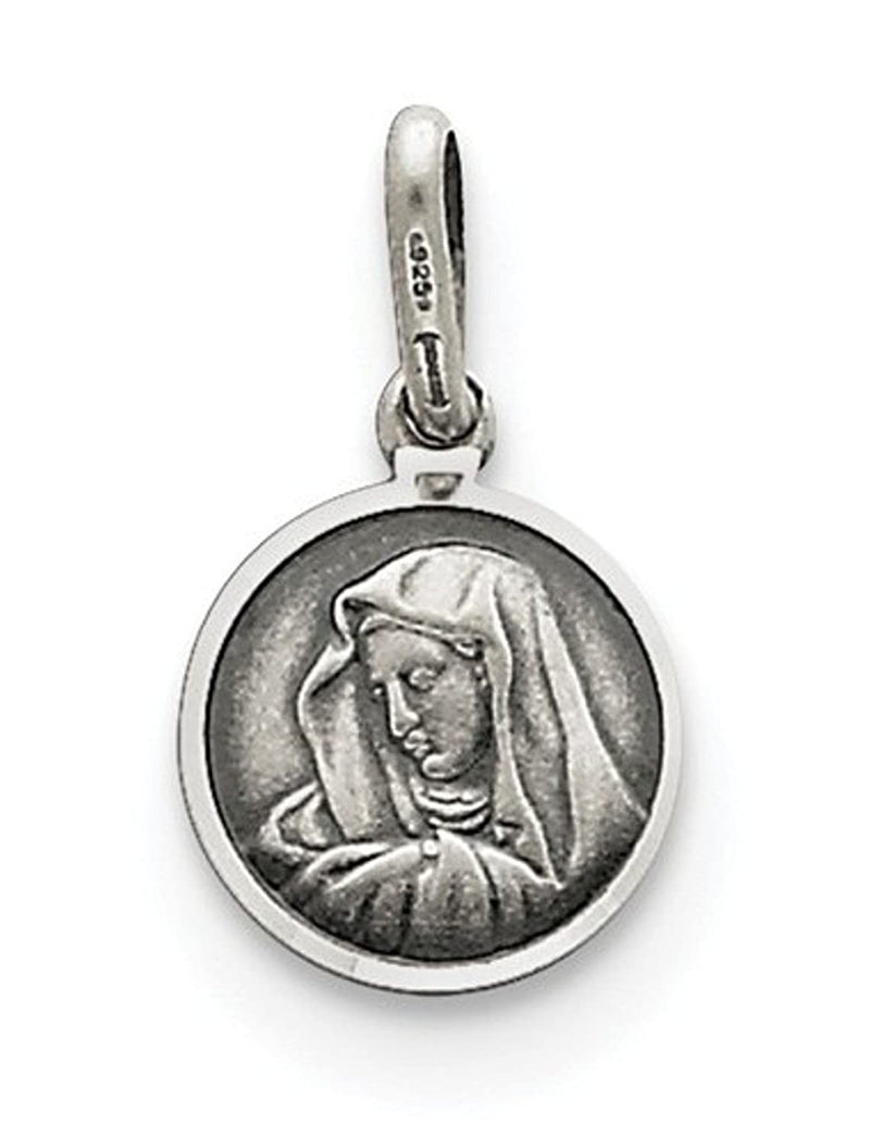 Sterling Silver Our Lady Of Sorrows Medal (12X10MM)