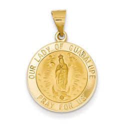 14k Yellow Gold Our Lady Of Guadalupe Medal Pendant (21X18MM)