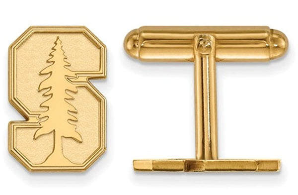 14K Yellow Gold Stanford University Cuff Links, 15MM