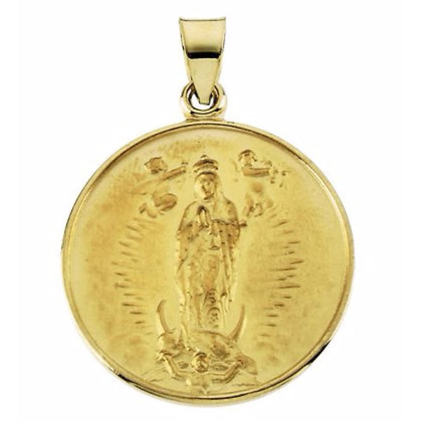 18k Yellow Gold Guadalupe Medal (13 MM)