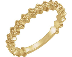 Petite Clover Stackable Ring, 14k Yellow Gold