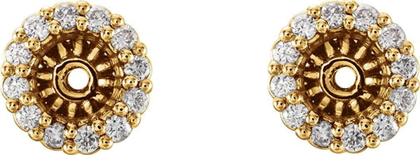 Diamond Cluster Earring Jackets, 14k Yellow Gold (4.6 MM) (0.16 Ctw, G-H Color, I2 Clarity)