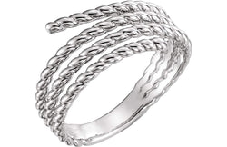 Spiral Wrap Rope Ring, Sterling Silver