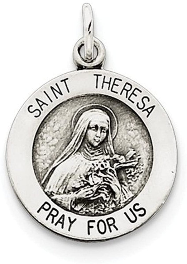 Sterling Silver St. Theresa Medal (20X15MM)