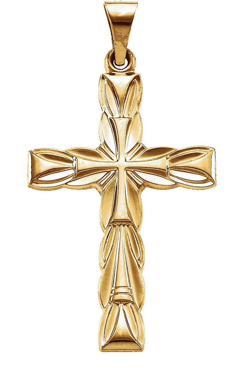 Ornate Cross 14k Yellow Gold Pendant