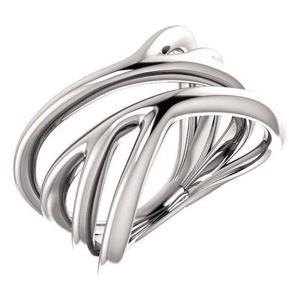 Platinum Negative Space Ring, Size 6