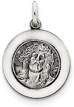 Sterling Silver Antiqued Ecce Homo Medal (25X18MM)