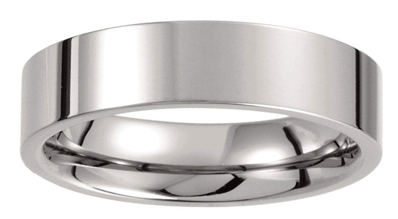 Titanium 6mm Comfort Fit Flat Band, Size 11