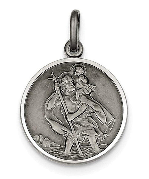 Sterling Silver St. Christopher Medal (32X22MM)