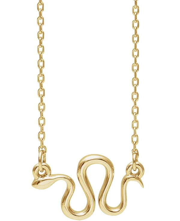 Snake Necklace, 14k Yellow Gold, 18""