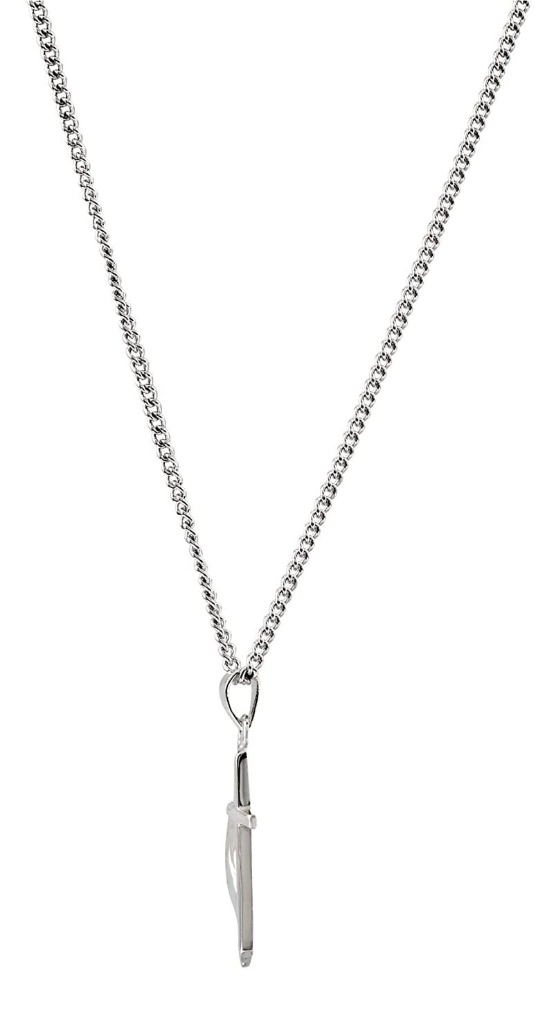 Methodist Cross Sterling Silver Pendant Necklace, 18""