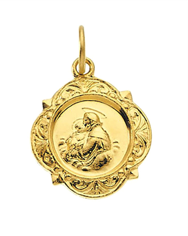 14k Yellow Gold St. Anthony Medal (12.14x12.09 MM)