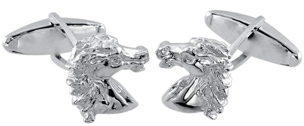 Sterling Silver Andalusian Horse Cuff Links