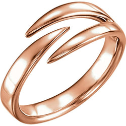 Negative Space Ring, 14k Rose Gold, Size 5.75