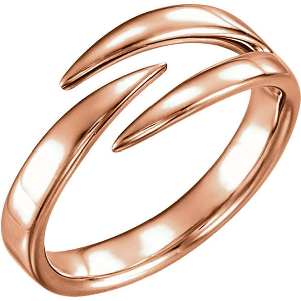 Negative Space Ring, 14k Rose Gold, Size 7.25