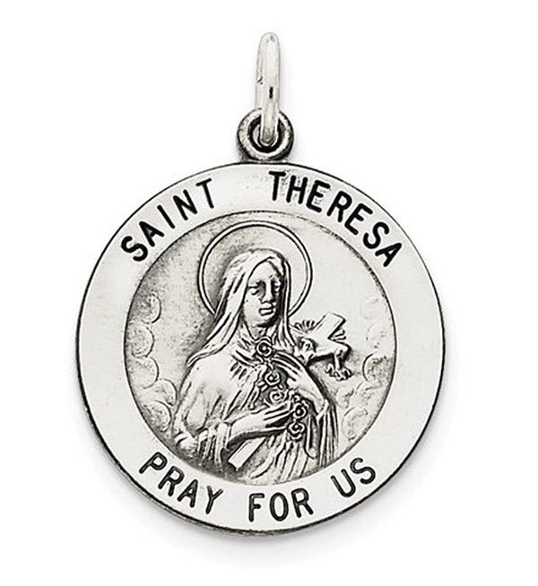 Sterling Silver St. Theresa Medal (30X22MM)
