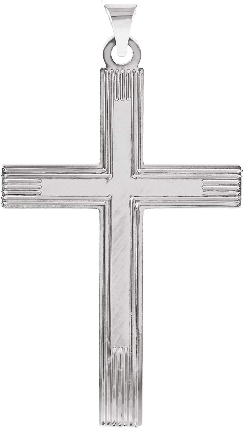 Christian Cross Sterling Silver Pendant (19.5X11MM)